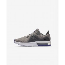 Nike Air Max Sequent Running Shoes For Boys Dark Grey/Moon Particle/Persian Violet/Black (100JQXAB)