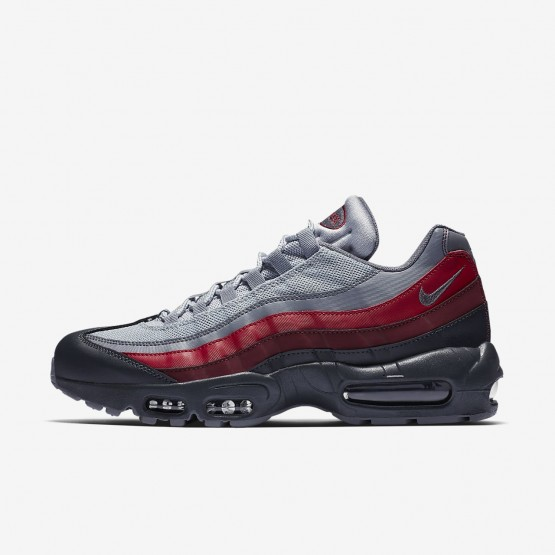 Chaussure Casual Nike Air Max 95 Homme Grise/Rouge/Grise (102QLIMS)