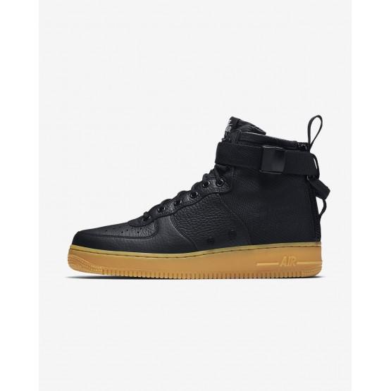 Chaussure Casual Nike SF Air Force 1 Homme Noir/Marron Clair (112DYFJP)