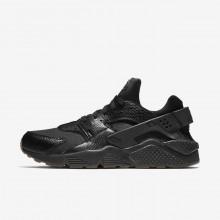 Nike Air Huarache Lifestyle Shoes Mens Black/Gum Medium Brown/Elemental Gold (116XCIBG)
