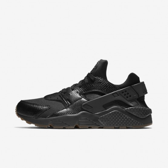 Nike Air Huarache Lifestyle Shoes For Men Black/Gum Medium Brown/Elemental Gold (116XCIBG)