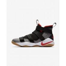 Chaussure de Basket Nike LeBron Soldier XI Femme Noir/Blanche/Grise/Orange (127RQMGP)