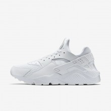 Nike Air Huarache Lifestyle Shoes For Men White/Pure Platinum (129CFKVH)