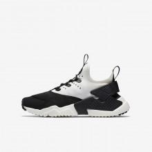 Nike Huarache Lifestyle Shoes Boys Black/White/Sail (130IUTKW)