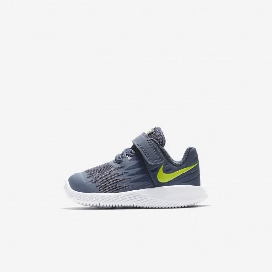 Nike Star Runner Running Shoes Girls Thunder Blue/White/Obsidian/Volt (142FDZMU)