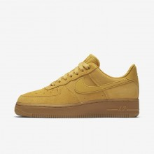Nike Air Force 1 Lifestyle Shoes Womens Mineral Yellow/Gum Light Brown/Elemental Gold (142QEVCN)