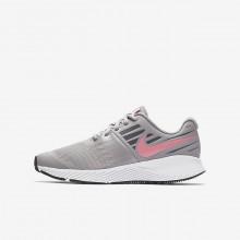 Nike Star Runner Running Shoes Girls Atmosphere Grey/White/Gunsmoke/Sunset Pulse (148WDYUP)