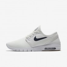Nike SB Stefan Janoski Max Skateboarding Shoes For Men Summit White/Gum Medium Brown/White/Thunder Blue (151GSCQA)