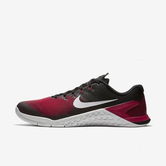 Nike Metcon 4 Fitness Schoenen Heren Zwart/Rood/Grijs (152EABFX)