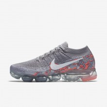 Nike Air VaporMax Running Shoes Womens Atmosphere Grey/White/Hot Punch (154IEXRV)