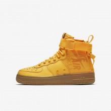 Nike SF Air Force 1 Lifestyle Shoes Boys Laser Orange/Gum Medium Brown (159KIZWB)