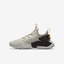 Nike Huarache Lifestyle Shoes Boys Light Bone/Velvet Brown/Vivid Sulfur (163ADFGJ)