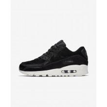 Nike Air Max 90 Lifestyle Shoes Womens Black/Dark Grey/Sail (163OYIQG)