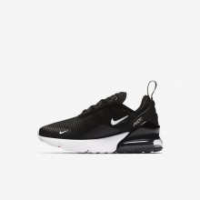 Nike Air Max 270 Lifestyle Shoes Boys Black/Anthracite/White (173QASVN)