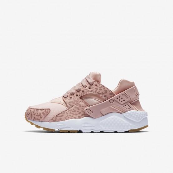 Nike Huarache Lifestyle Shoes Girls Coral Stardust/Gum Light Brown/White/Rust Pink (181YOIRT)