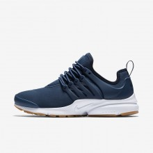Nike Air Presto Lifestyle Shoes Womens Navy/Obsidian/Gum Light Brown (187ICTHJ)