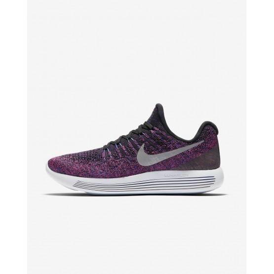 Nike LunarEpic Low Running Shoes Womens Black/Hyper Punch/Persian Violet/Metallic Silver (194RAFCN)