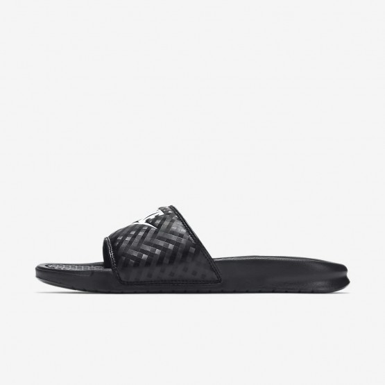 Nike Benassi Lifestyle Shoes For Women Black/White (201LKYGP)