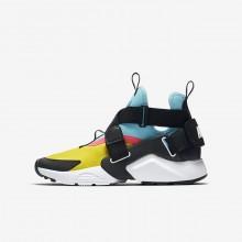 Nike Huarache Lifestyle Shoes Boys Tour Yellow/Bleached Aqua/Racer Pink/Anthracite (204XUJMZ)