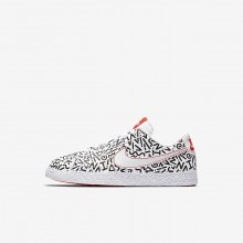 Nike Blazer Lifestyle Shoes For Boys White/Black/Bright Crimson (206XEQFI)