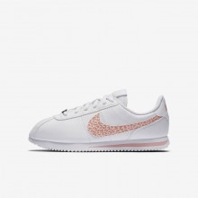 Nike Cortez Lifestyle Shoes Girls White/Rust Pink/Coral Stardust (213XEAVC)