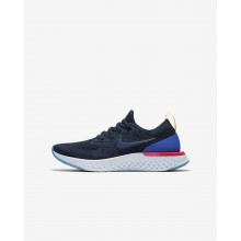 Nike Epic React Flyknit Running Shoes For Boys College Navy/Racer Blue/Pink Blast (215BFVKT)