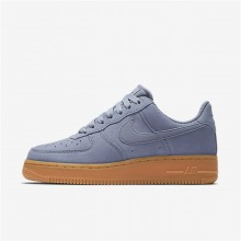 Nike Air Force 1 Lifestyle Shoes Womens Glacier Grey/Gum Medium Brown/Ivory (215TASBI)