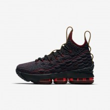Nike LeBron 15 Basketball Shoes Boys Dark Atomic Teal/Team Red/Muted Bronze/Ale Brown (220ITWFC)