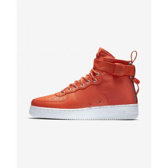 Nike SF Air Force 1 Lifestyle Shoes Mens Team Orange/Black (223PJAGB)