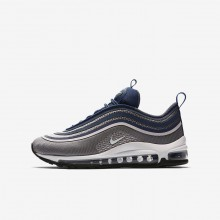 Nike Air Max 97 Lifestyle Shoes For Girls Light Carbon/Barely Rose/Navy/White (227NTYJW)