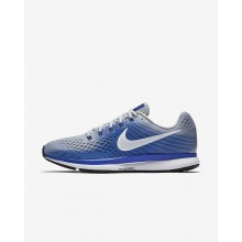 Nike Air Zoom Running Shoes For Men Wolf Grey/Racer Blue/Deep Royal Blue/White (231OZEHX)