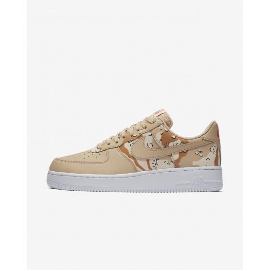 Nike Air Force 1 Lifestyle Shoes Mens Bio Beige/Orange Quartz/Terra Orange (238IRWOF)