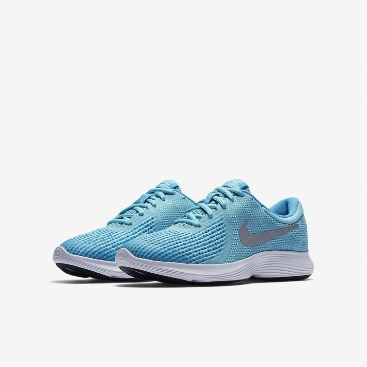 chaussure nike fille bleu et blanche
