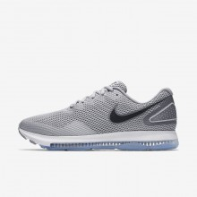 Nike Zoom All Out Running Shoes For Men Wolf Grey/Cool Grey/Black (249MBFQY)