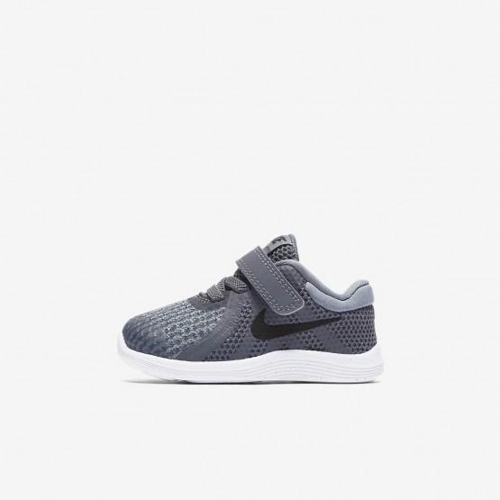 Nike Revolution 4 Running Shoes Girls Dark Grey/Cool Grey/White/Black (251IQHZS)