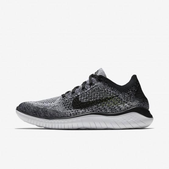 Nike Free RN Running Shoes Mens White/Black (251LGJWY)
