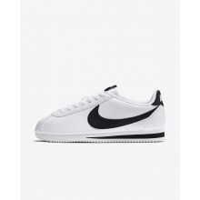 Nike Classic Cortez Lifestyle Shoes Womens White/Black (256XUIQE)