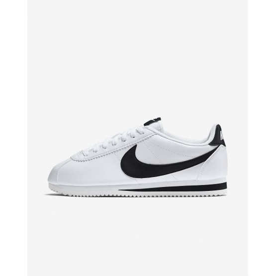 Nike Classic Cortez Lifestyle Shoes For Women White/Black (256XUIQE)