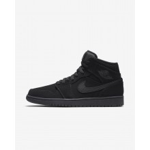 Air Jordan 1 Lifestyle Shoes Mens Black/White (258FTYRQ)