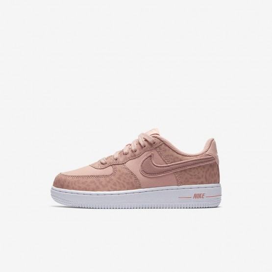 Nike Air Force 1 Lifestyle Shoes For Girls Coral Stardust/White/Rust Pink (259CQPFE)