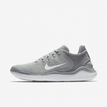 Nike Free RN Running Shoes Womens Wolf Grey/White/Volt (264ACXQI)