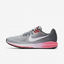 Nike Air Zoom Running Shoes Womens Dark Grey/Wolf Grey/Hot Punch/White (265JKAXT)
