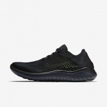 Nike Free RN Running Shoes For Men Black/Anthracite (267OKHQR)
