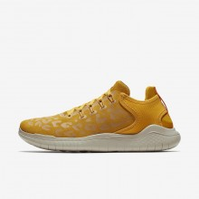 Nike Free RN Running Shoes Womens Yellow Ochre/University Gold/Oil Grey (268VACEB)