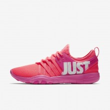 Nike Free Trainer Training Shoes For Women Hot Punch/Pink Blast/White (281NPLKC)