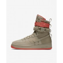 Nike SF Air Force 1 Lifestyle Shoes Mens Khaki/Rush Coral (282NMIFX)