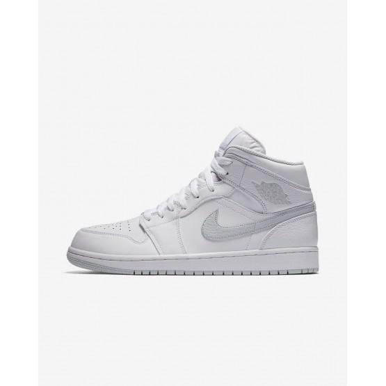Air Jordan 1 Lifestyle Shoes For Men White/Pure Platinum (283MXFGW)