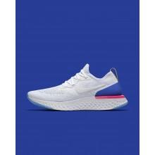 Chaussure Running Nike Epic React Flyknit Femme Blanche/Bleu/Rose (284AQEKB)