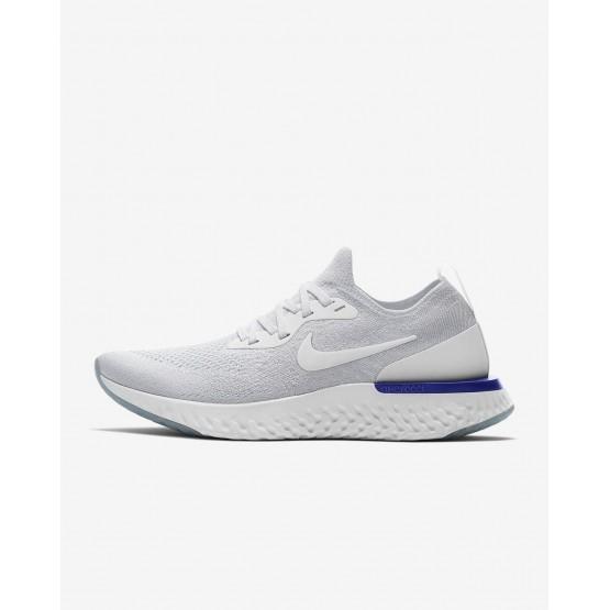 Chaussure Running Nike Epic React Flyknit Femme Blanche/Bleu (286YNWHP)
