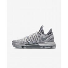 Nike Zoom KDX Basketball Shoes For Women Wolf Grey/Cool Grey (294CLJKV)